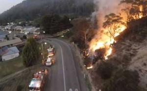 مدیریت آتش سوزی توسط پهپاد