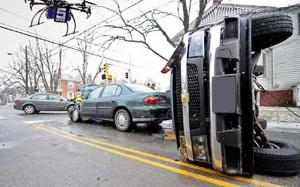 جمع آوری اطلاعات از تصادفات رانندگی توسط پهپاد