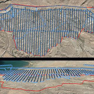نقشه برداری با پهپاد از شهر تیس