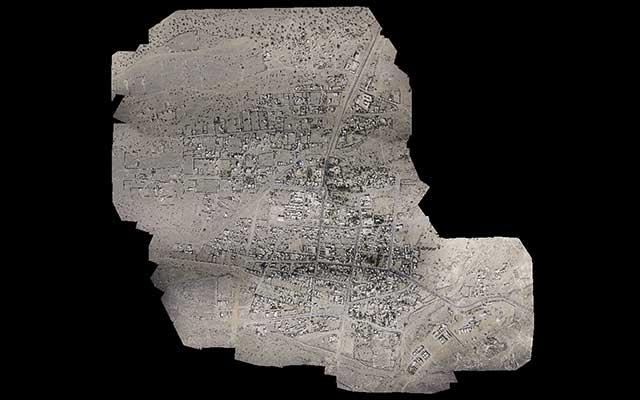 نقشه برداری هوایی عکس ارتوی شهر نگور