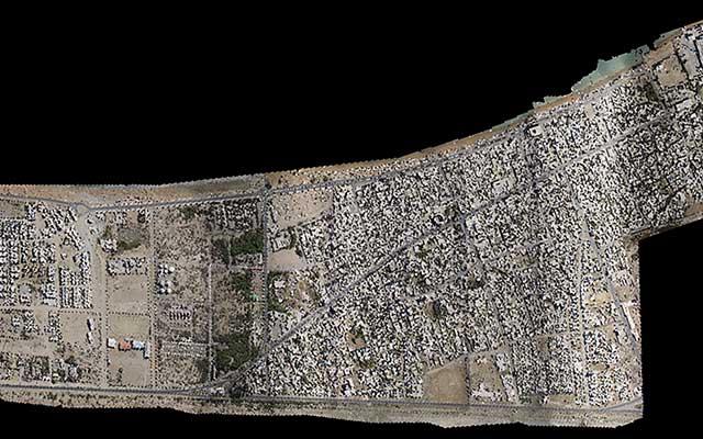 نقشه برداری هوایی عکس ارتو موزاییک شهر کنارک
